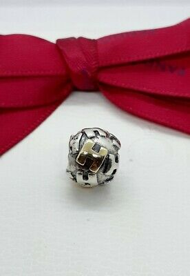 AU99 • Buy Genuine Pandora Two Tone Letter   H  790298H - Retired Rare Silver 14kt Gold