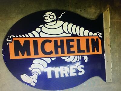 $ CDN647.95 • Buy Porcelain Michelin Tires Enamel Sign Size 19  X 22  Inches Double Sided Flange