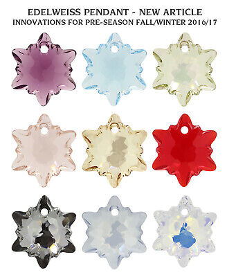 Genuine SWAROVSKI 6748 Edelweiss Crystals Pendants * Many Colors & Sizes • 11.90£