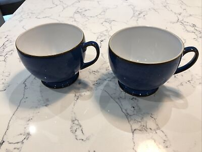 Pair Of Blue Denby Footed Mugs • 12£