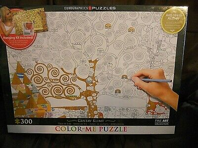 $ CDN25.42 • Buy NIB Sealed Color Me Eurographics 300 Pc Puzzle Tree Of Life Gustav Klimt 19x26in