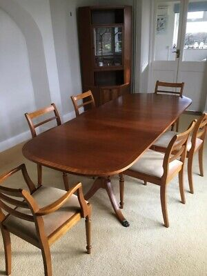 Yew Wooden Dining Table & Chairs  • 99£