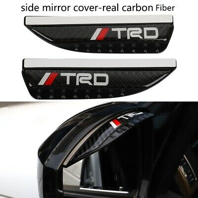 $16.88 • Buy 2pc TRD Carbon Fiber Rear View Side Mirror Visor Shade Rain Shield Water Guard