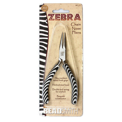 BeadSmith® Zebra Line Chain Nose Pliers With Double Spring * Jewelry Tools • 7.06£