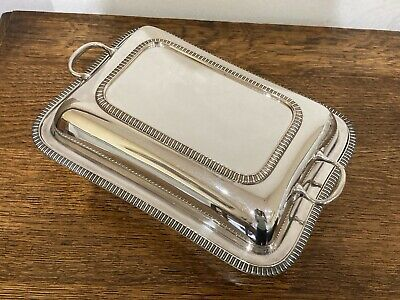 Antique Silver Plated Rectangular Lidded Entree Serving Dish. EPNS A1 35448 • 35£