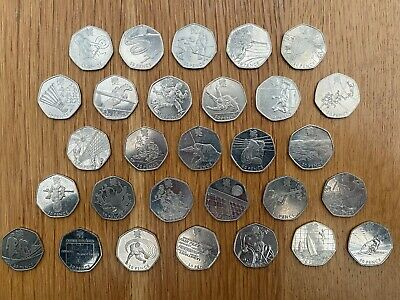 Assorted Olympic 50p Coins Circulated Various British Rare • 20£