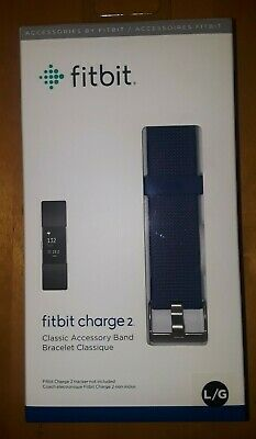 $ CDN6.53 • Buy Fitbit Charge 2 Blue Classic Accessory Band Size Large New In Box