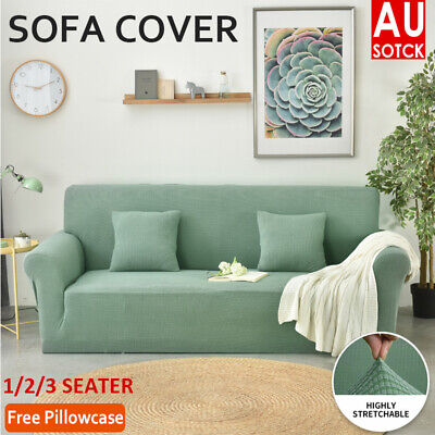 AU27.85 • Buy 1/2/3 Super Stretch Sofa Cover Couch Lounge Protector Slipcovers Seater Covers