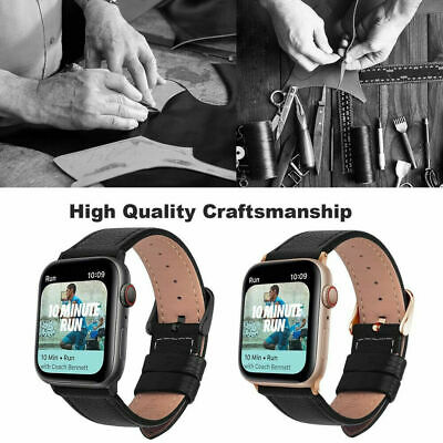 $ CDN8.85 • Buy Leather Apple Watch Band Strap For IWatch Series SE 6 5 4 3 - 38 40 42 44mm