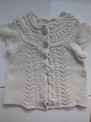 AU16 • Buy H&m Baby Infant Girl Knitted Woolen Sparkle Cardigan Jacket Size 0 Fits 9-12m