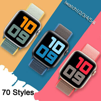$ CDN4.06 • Buy For IWatch Apple Watch Nylon Loop Woven Strap Band Series SE 6 5 4 3 2 1 38-44MM