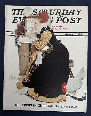 $ CDN31.73 • Buy Norman Rockwell Saturday Evening Post August 5, 1939