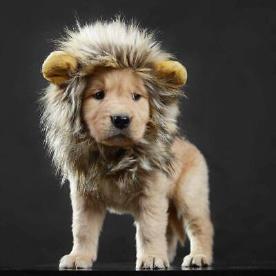 £9.91 • Buy Costume Lion Mane Wig For Pet Cat Dog Halloween Christmas Party Fancy Dress Up
