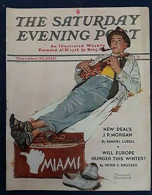 $ CDN31.73 • Buy Norman Rockwell Saturday Evening Post November 30, 1940