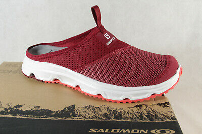Salomon Clogs Rx Slide 4.0 W Pantolette Mules Red Bordo New • 68.31£