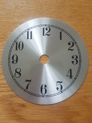 £8.95 • Buy NEW - 3.5 Inch Clock Dial Face - Silver Finish 90mm - Arabic Numerals - DL08