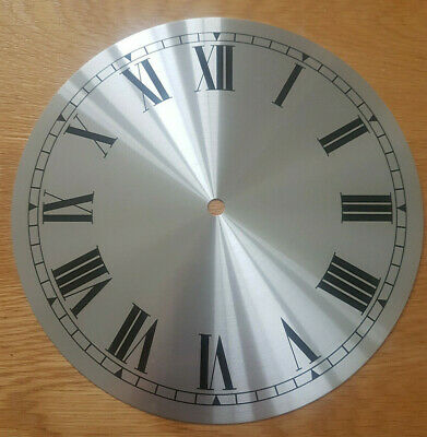 £11.95 • Buy NEW - 9 Inch Clock Dial Face - Silver Finish 230mm - Roman Numerals - DL25
