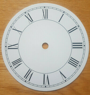 £11.95 • Buy NEW - 5.5 Inch Clock Dial Face - White Finish 138mm - Roman Numerals - DL171