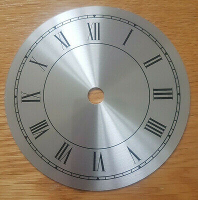 £11.95 • Buy NEW - 4.5 Inch Clock Dial Face - Silver Finish 114mm - Roman Numerals - DL12
