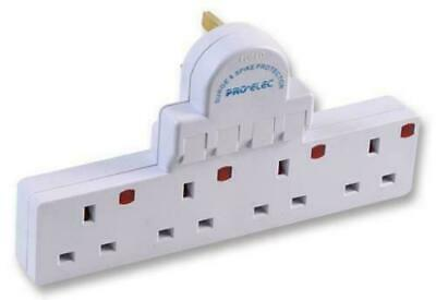 £14.24 • Buy Multi Socket Plug In Extension 4 Way Gang Switched Surge Spike Protect Adaptor
