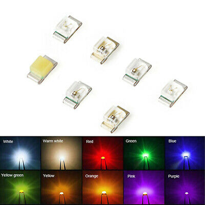 $15.46 • Buy SMD / SMT LED 0402 Ultra Bright LEDs White Red Yellow Blue Green Orange Ice Blue