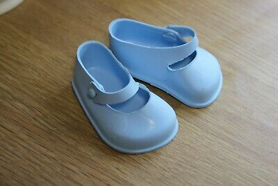Vintage Pale Blue Cinderella Mary Jane Doll Shoes SIZE 3 • 3.95£