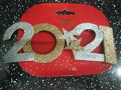 2021 Happy New Year Festive Glitter Glasses Eve Festival Party Decoration • 3.99£