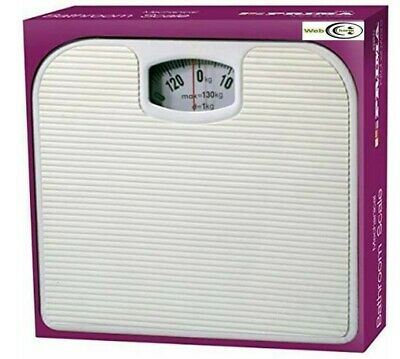 Mechanical Dial Bathroom Scales Weighing Scale Body Weight White 130kg - Prima • 7.99£