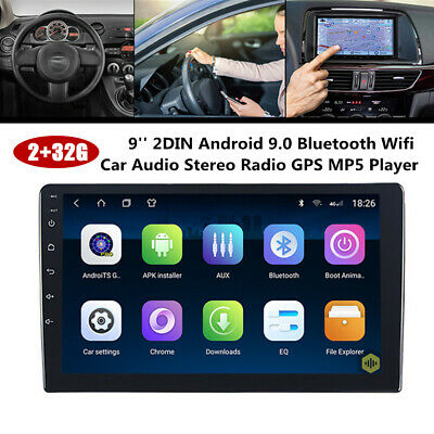 AU309.10 • Buy 9 Inch 2DIN Android 9.0 Bluetooth Wifi Car Stereo Radio GPS MP5 Player Universal