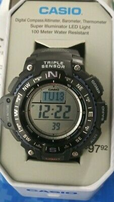 Casio Triple Sensor Mens Watch Digital Compass Thermometer Altimeter NEW IN TIN • 51.64£