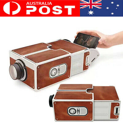 AU23.36 • Buy DIY Smartphone Projector Create Small Home Theater Portable Phone Projector Gift