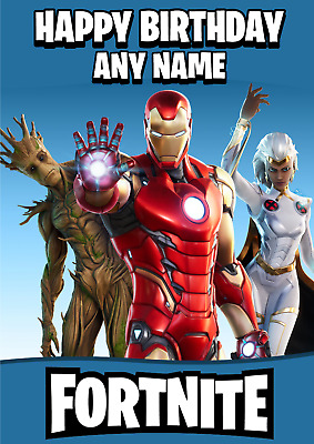 $ CDN6.82 • Buy Personalised Fortnite Birthday Card, Personalized Fortnight, Add Your Name & Age