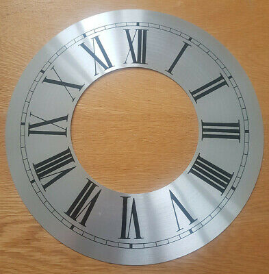 £13.95 • Buy 12 Inch Chapter Ring Clock Zone Dial Face - Silver Roman Numeral 304mm CR45
