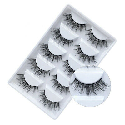 5 Pairs 3D False Eyelashes Thick Wispy Long Mink Soft Fake Lashes NatraLashious • 2.99£