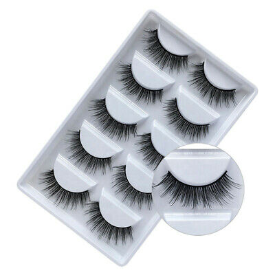 5 Pair 3D False Eyelashes Long Wispy Thick Volume Mink Fake Lashes SuperLashious • 3.29£