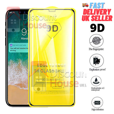 9D Tempered Glass Screen Protector For ALL Huawei P10 P20 P30 Pro Lite 2019  • 3.99£