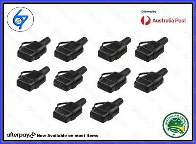 AU29.95 • Buy 10 Waterproof 50A Anderson Plug Dust Cable Sheath Cover Black - Cap, New 20/21