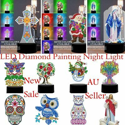 AU24.99 • Buy Table Lamp LED Diamond Painting Night Light Decor Gifts New Sale Multiple Styles