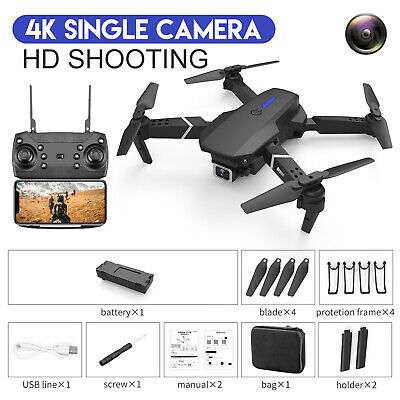 AU47.01 • Buy 1Set Drones With Camera For Adults Long Flight Time Drone Quadcopter Drone Black