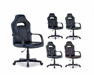 MOSCOW PU Leather Racing Style Gaming Office Chair Adjustable Seat SALE WAS £100 • 69.99£