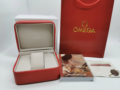 Omega Watch Box  Red Leather Watch Box Full Set • 47.99£