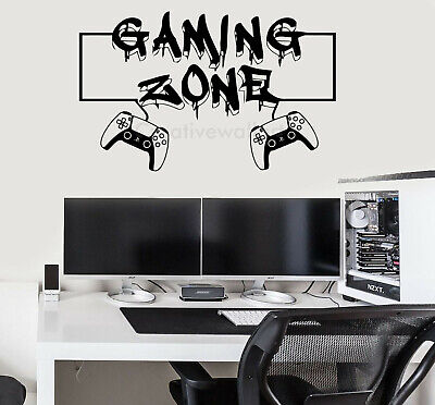 Gaming Zone Wall Stickers Vinyl Gaming Wall Stickers Decals Ps5 Xbox One Ps4 Art • 6.75£