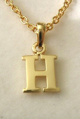 AU79 • Buy GENUINE SOLID  9K 9ct YELLOW  GOLD  INITIAL  H  LETTER ALPHABET PENDANT