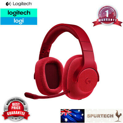 AU70 • Buy Logitech G433 Wired Gaming Headset With DTS Headphone:X 7.1 Surround Sound Red