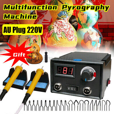AU49.88 • Buy □60W 220V Multifunction Wood Burning Pen Tool Pyrography Machine Set Kit Burner