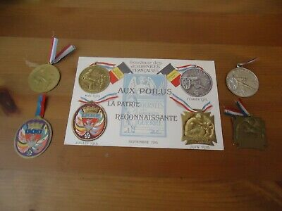 Ww1 French Journee Medals Aux Poilus (very Rare) • 49.95£