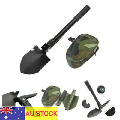 AU13.95 • Buy Survival Foldable Shovel Outdoor Camping Hiking Spade Camp Compass Pick