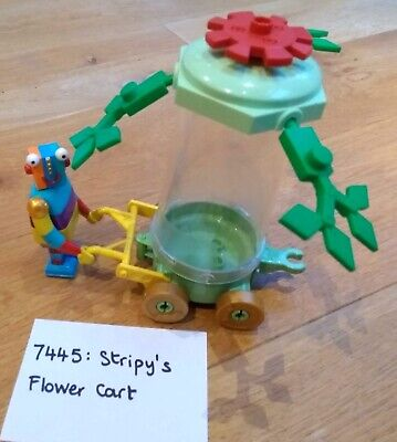 DUPLO 7445: Stripy's Flower Cart From Little Robots. Complete Set Rare Lego 2004 • 15£