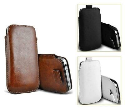 For IPhone 12 / Mini / Pro / Max - Soft Faux Leather Pull Tab Pouch Case | FPC • 3.90£