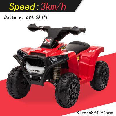 Kids Battery Powered Electric Ride On Quad Bike ATV Outdoor Children Toddler Toy • 62.16£